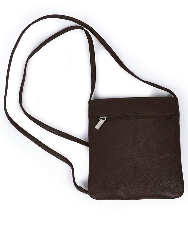 The Meriam Leather Swingpack Crossbody Bag (Brown)
