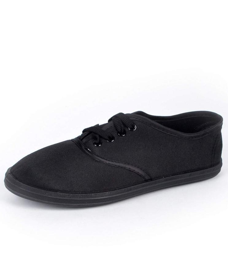 Women's Classic Black Canvas Shoes