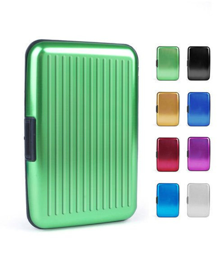 Solid BRIGHT Color Aluminum Card, Money, ID Holder Durable Case  (CASE001)