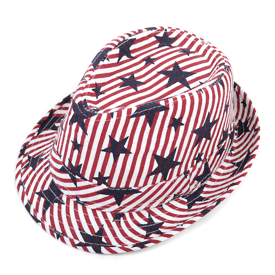 WESTEND Unisex 4th of July Fedora (Stars and Stripes)