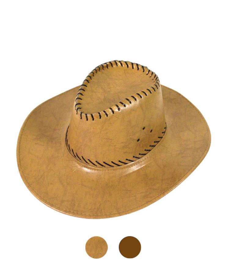 "6pc Pack 3.5"" Brim Cowboy Hat H9309"