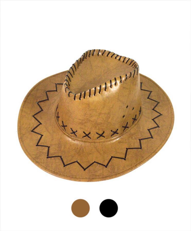 "6pc Pack 3.5"" Brim Cowboy Hat H9308"