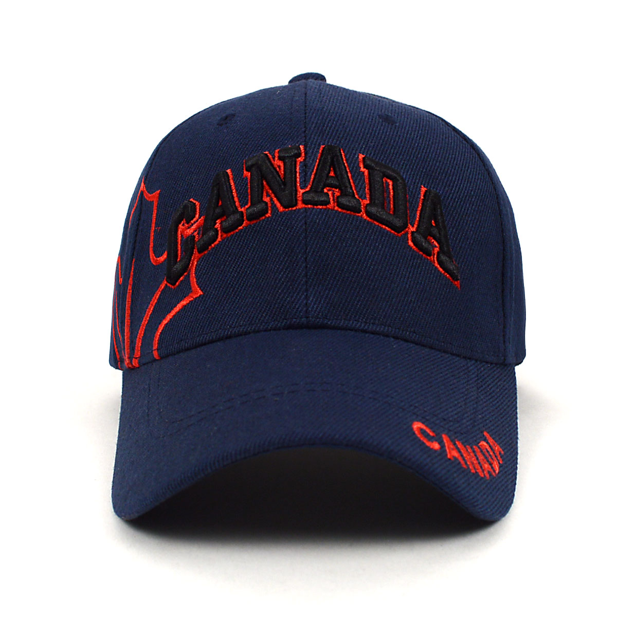 Canada Navy 3D Embroidered Baseball Cap 6f2b6205384