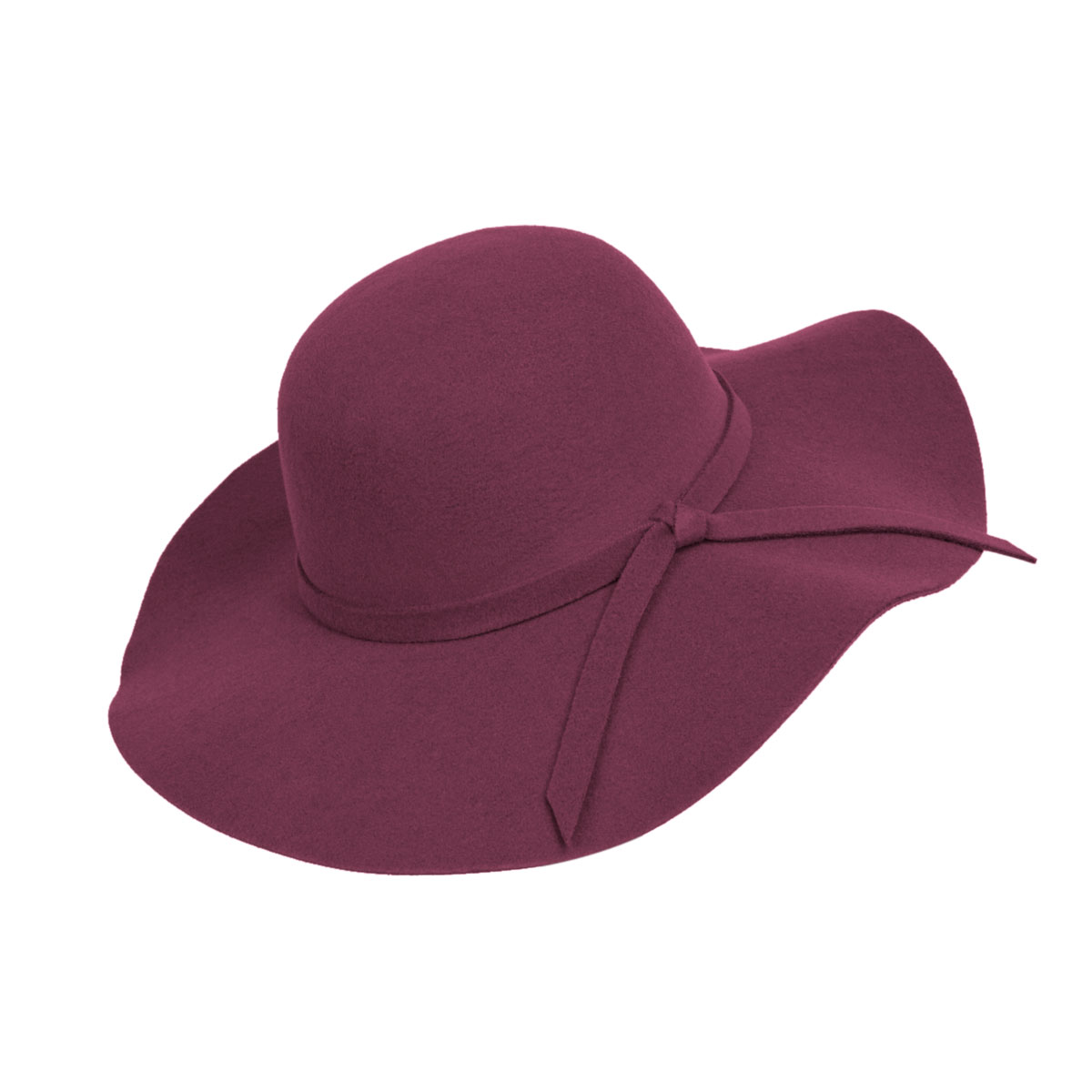 aa49fae4909c3 Wine Poly Floppy Wide Brim Bowknot Hat