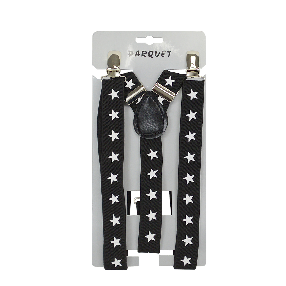 1fce3fb04 6pc Men s Y-Back Stars Adjustable Elastic Black Clip-on Suspenders