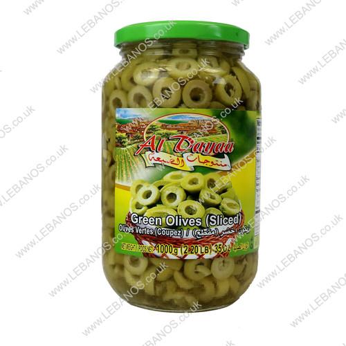 Green Olives (Sliced) - Al Dayaa - 12 x 1kg