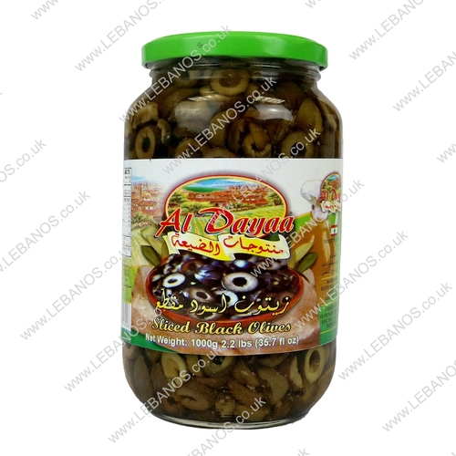 Black Olives (Sliced) - Al Dayaa - 12 x 1kg