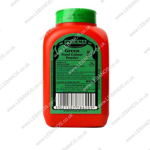 Food Colouring Powder/Green - Preema - 500g