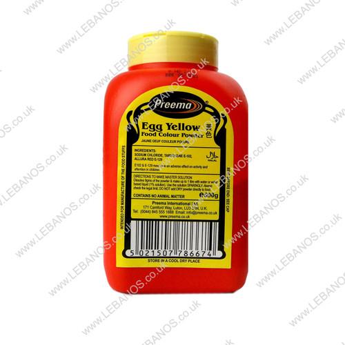 Food Colouring Powder/Egg Yellow - Preema - 500g