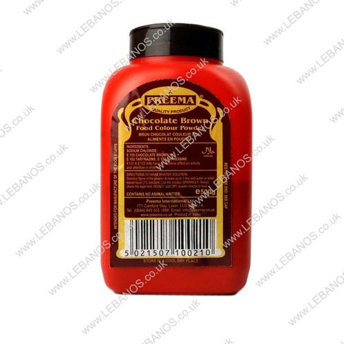 Food Colouring Powder/Chocolate Brown - Preema - 500g