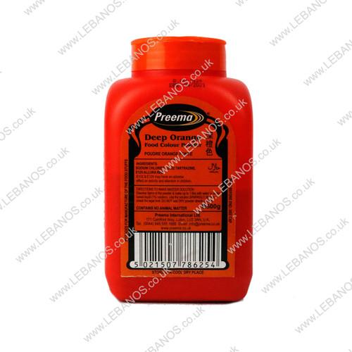 Food Colouring Powder/Deep Orange - Preema - 500g