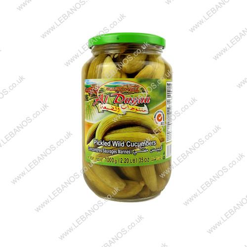 Pickled Wild Cucumbers - Al Dayaa - 12 x 1kg