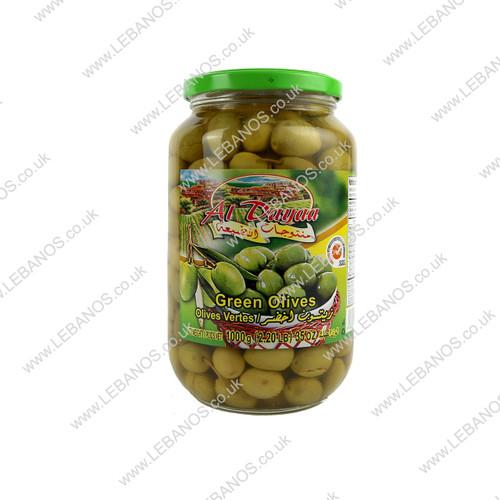 Green Olives - Al Dayaa - 12 x 1kg