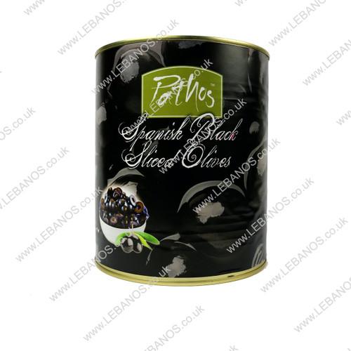 Sliced Black Olives - Lebanos - 3kg