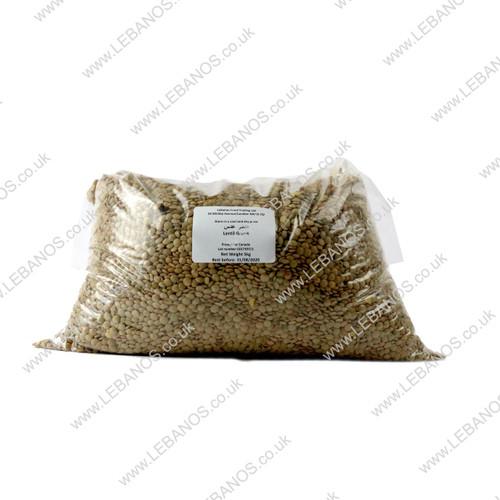 Lentil Whole Green - Lebanos - 5kg