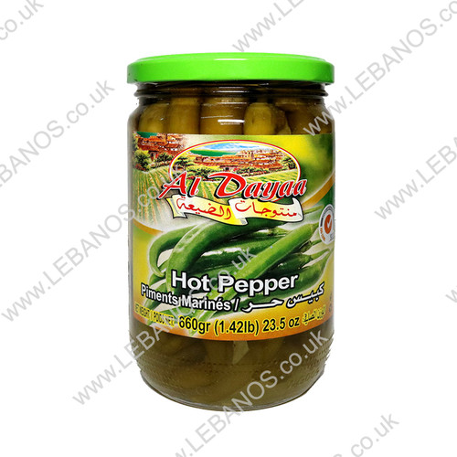 Hot Pickled Peppers - Al Dayaa - 12 x 660g