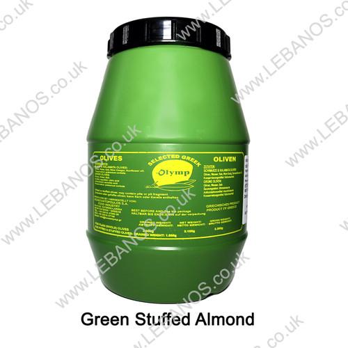 Green Olives Stuffed Almond - Olymp - 3.3L