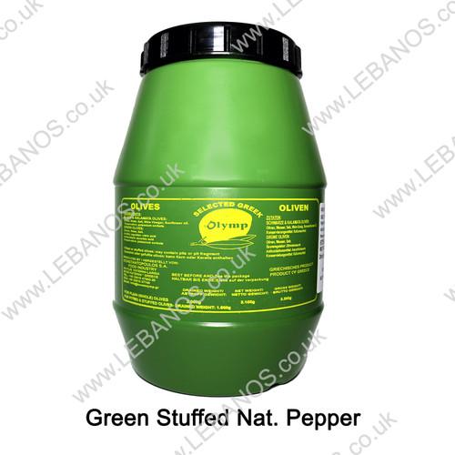 Green Olives Stuffed Pepper - Olymp - 3.3L