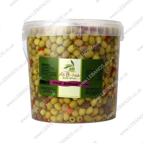 Pitted Barbeque Olives- Al Bahia - 7kg