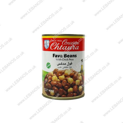 Foul Moudamas Fava Beans with Chickpeas - Chtaura Conserves - 24 x 400g