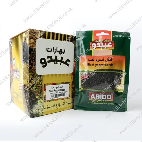 Black Pepper Whole - Abido - 12 x50g