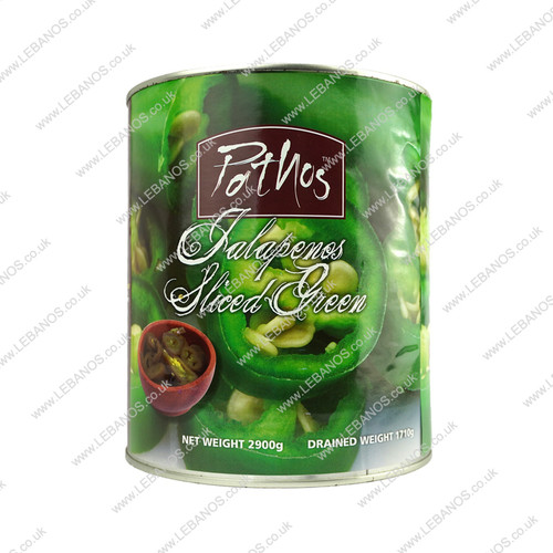 Jalapeño Green Sliced - Natco - 2.5kg