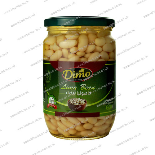 White Kidney Beans Boiled/ Jar - Dimo - 12x400g