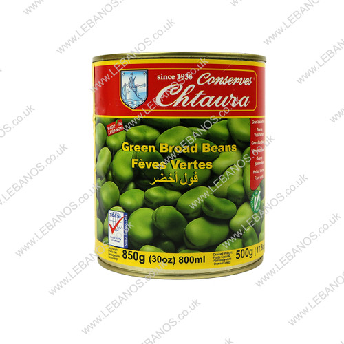 Green Broad Beans - Chtaura Conserves - 12 x 850g