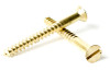 Brass Slotted Flat Head Wood Screw