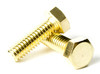 1/4-20 Brass Hex Head Cap Screws