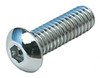 1/4-28 Chrome Button Head Socket Cap Screw