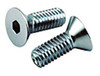 1/4-28 Chrome Flat Head Socket Cap Screw
