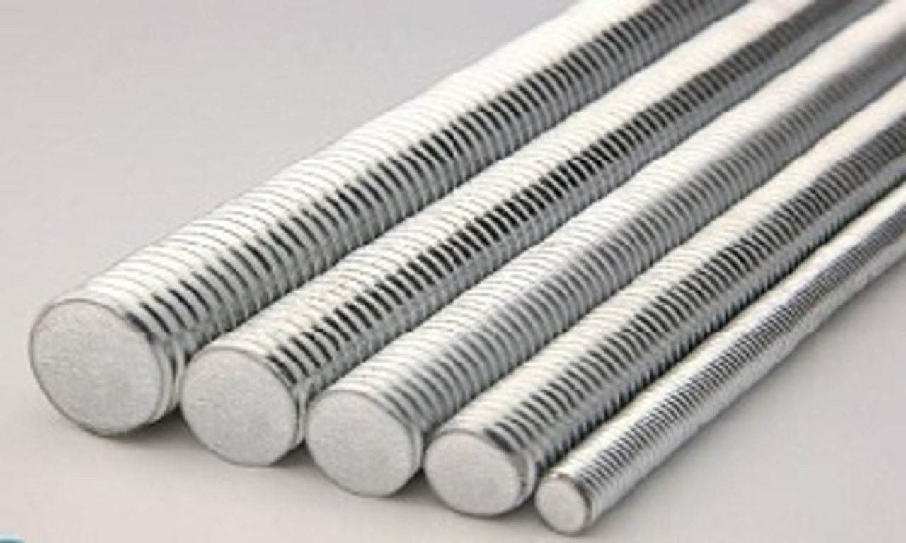 1-1//8-7 x 2 Zinc Plated Low Carbon Steel Threaded Rod