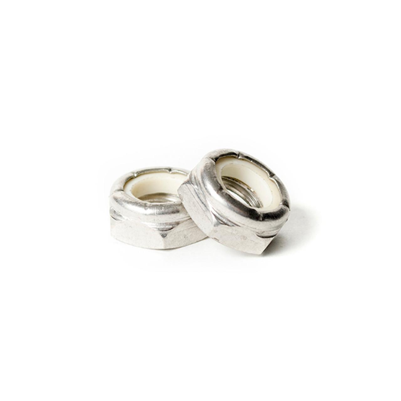 5/16-24 Thin Nylon Insert Lock Nut 18-8 Stainless Steel
