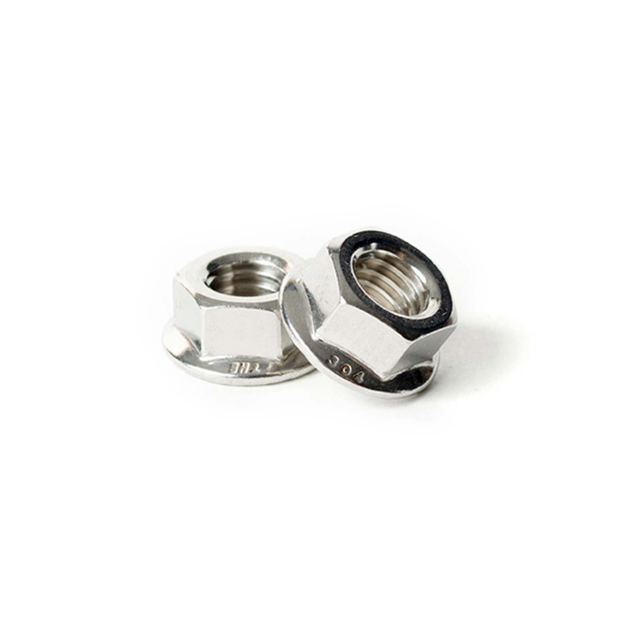 5/16-24 Serrated Flange Lock Nut 18-8 Stainless Steel