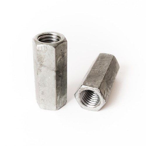"7//8-9 Coupling Nut Hot Dipped Galvanized 1-1//4/"" Wrench x 2-1//2/"" Long Qty 10"