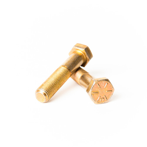 "PT Bolt Fine Grade 8 Hex Cap Screw - USA Yellow Zinc 5//8/""-18 x 4 1//2/"""