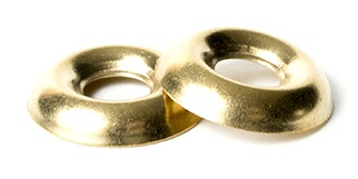 BRASS Countersunk Finish (Cup) Washer | The Nutty Company, Inc.