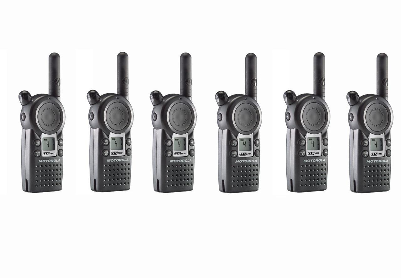 Motorola CLS1410 UHF Radio Six Pack
