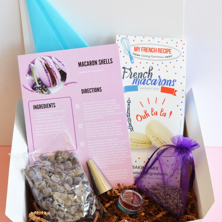 Lavender and chocolate Macaron baking kit