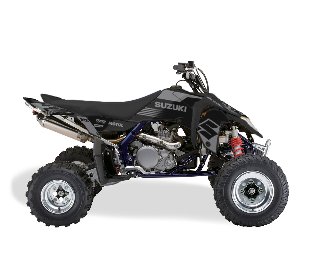 SMOKE SUZUKI GREY ATV Graphics Kit