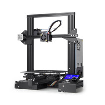 Creality 3D Ender-3 Prusa I3 DIY 3D Printer Kit 220x220x250mm Printing Size With Power Resume Function/V-Slot with POM Wheel/1.75mm 0.4mm Nozzle