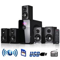 Befree Sound 5.1 Channel Surround Sound Bluetooth Speaker System In Black - 35656476