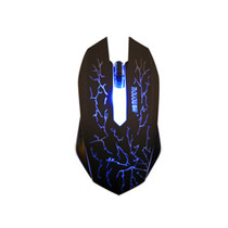 Optical Usb Wired Gaming Mouse Mice,led Lights,3 Buttons,black/blue