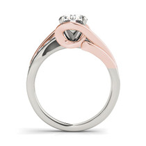 14k White And Rose Gold Bypass Shank Diamond Engagement Ring (1 1/8 Cttw) - 43684024
