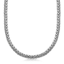 Oxidized Sterling Silver Wheat Style Chain Men's Necklace