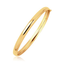 14k Yellow Gold Dome Design Polished Children's Bangle