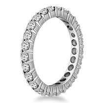 14k White Gold Ageless Round Cut Diamond Eternity Ring - 33566777