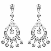 Indian Princess Simulated Diamond Cz Chandelier Earrings