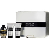 Spicebomb By Viktor & Rolf Edt Spray 1.7 Oz & Aftershave Balm 1.7 Oz & Non-foaming Shave Cream 1.7 Oz
